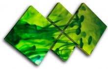 Ink Emerald Green Abstract - 13-0004(00B)-MP19-LO